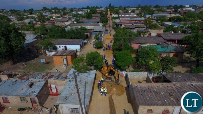FILE:  Lusaka Water and Sewerage Company's water supply and sewer construction works in Mtendere and Kalikiliki Compound