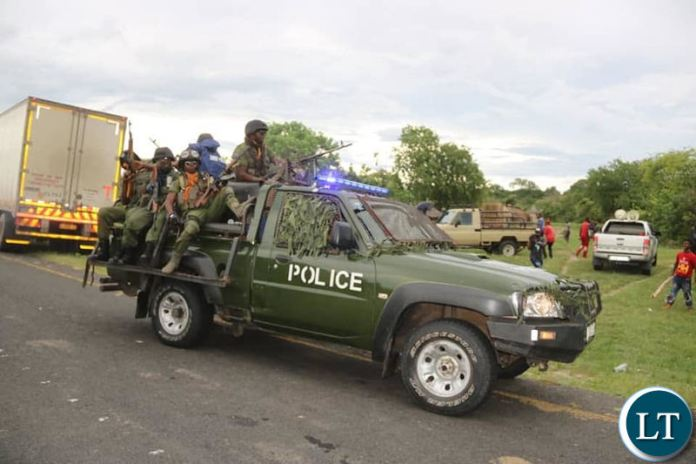 Police Officers ambush a UPND rally in Sesheke