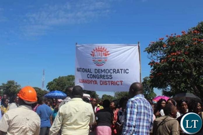 NDC members in Luanshya before the nomination