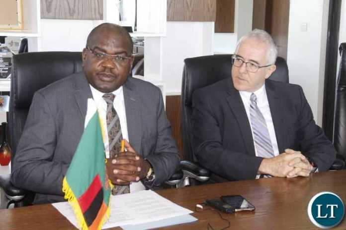 Israeli Ambassodor to Zambia, His Excellency Mr. Gershon Kedar  with Minister of Health Dr Chilufya