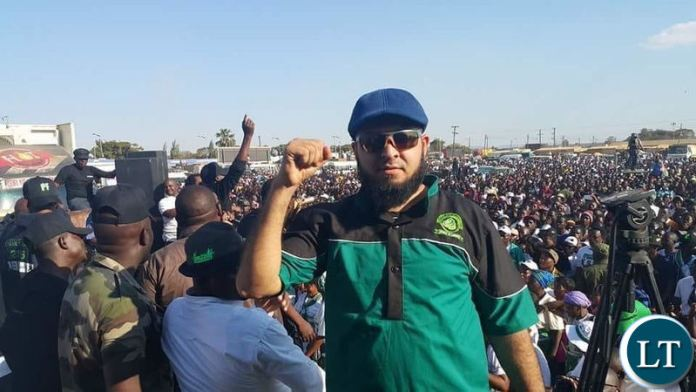 Huzaifa Jada at one of the PF campaign rallies
