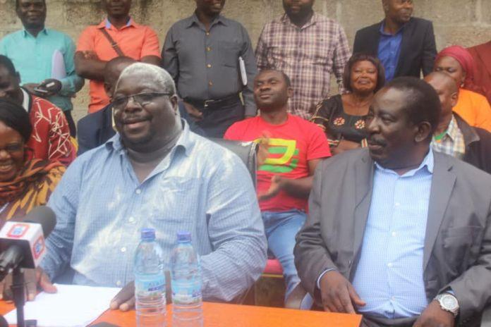 NDC President Chishimba Kambwili and NDC vice president Joseph's Akafumba