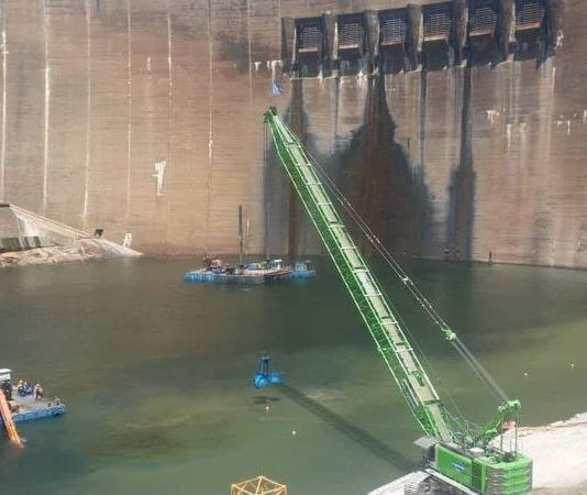 Kariba dam under rehabilitation