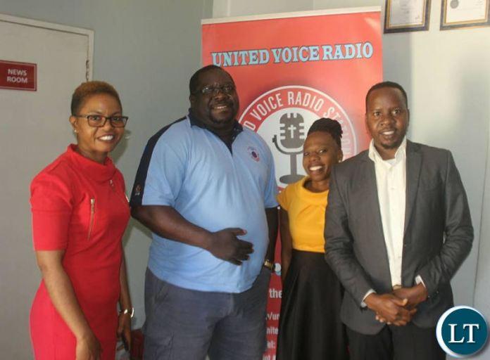 NDC President Chishimba Kambwili aggressions appearing on United Voice Radio on Wednesday