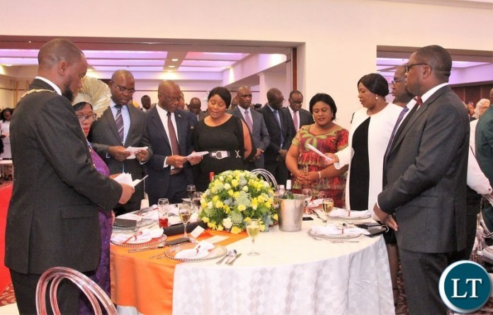 Some cabinet ministers spotted during state lunch in honour of Zambia 1st president Kenneth Kaunda.