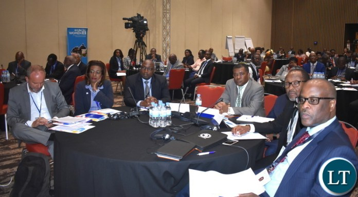 Audience listening to Hon. Alexander Chiteme, Minister of National Development Planning, delivering a keynote at SDGs in Rwanda 12-06-2019
