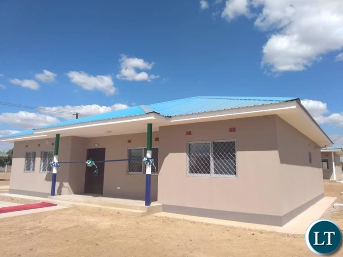 Some of the newly built House for the Police