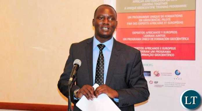 Mines and Minerals Development Minister Hon Richard Musukwa