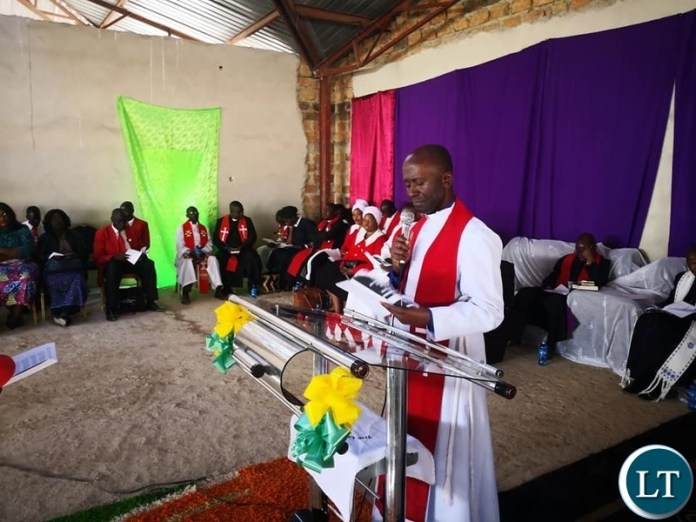 the Induction ceremony of Bishop Darious Chitalu of Mansa South Consistory in Mansa, Luapula Province.