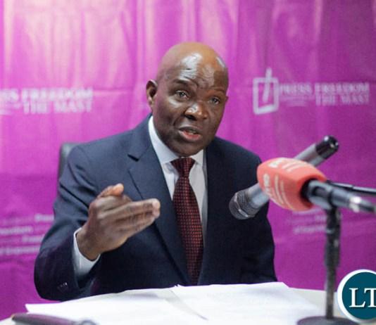 Socialist Party President Fred M'membe