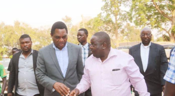 HH arriving at Lusaka Central Prison to visit Dr Kambwili