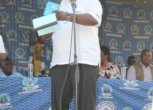 Hon. Nakacinda During The Monze Meeting