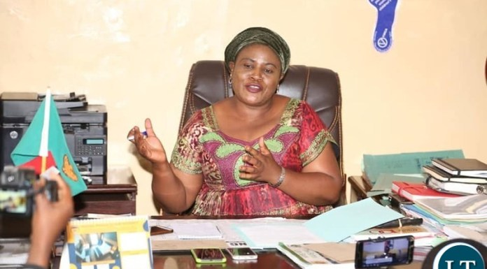 The Minister in the office of the Vice President Hon. Olipa Phiri