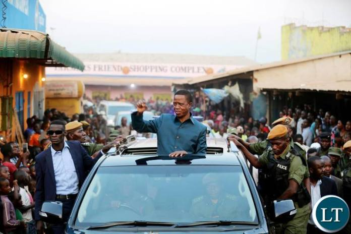 President Edgar Chagwa Lungu salutes people of Kasama during his working visit on Friday,August 9,2019.PICTURE BY SALIM HENRY/STATE HOUSE ©2019