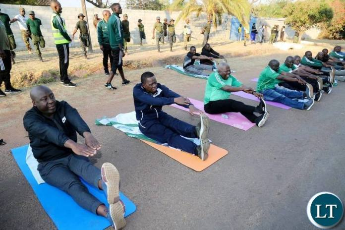 President Edgar Chagwa Lungu exercises in Kasama,Northern Province on Saturday,August 10,2019.PICTURE BY SALIM HENRY/STATE HOUSE ©2019