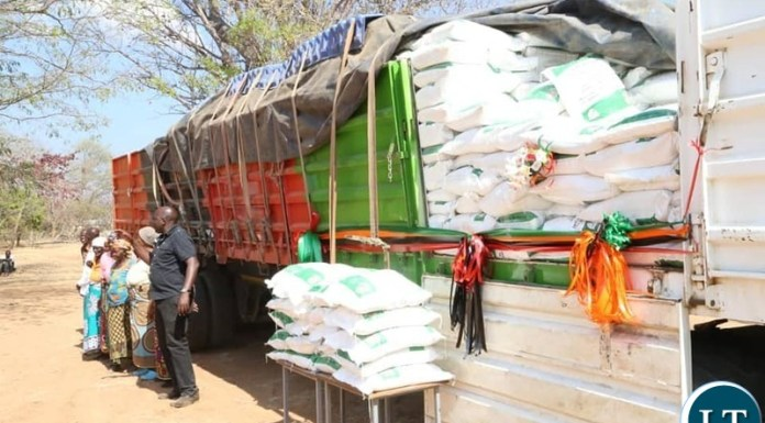 The Minister in the office of the Vice President Hon. Olipa Phiri and the Disaster Management and Mitigation Unit (DMMU) National Coordinator Mr. Chanda Kabwe have concluded the relief food distribution exercise in some parts of Eastern Province which were affected by Droughts .