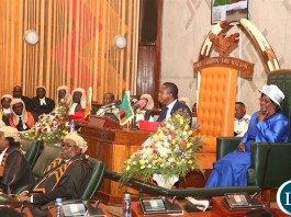 President Edgar Chagwa Lungu at the the official opening of Parliament on Friday, September 13, 2019-Picture by THOMAS NSAMA
