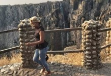 Victoria falls has not been spared by climate change, almost dry,