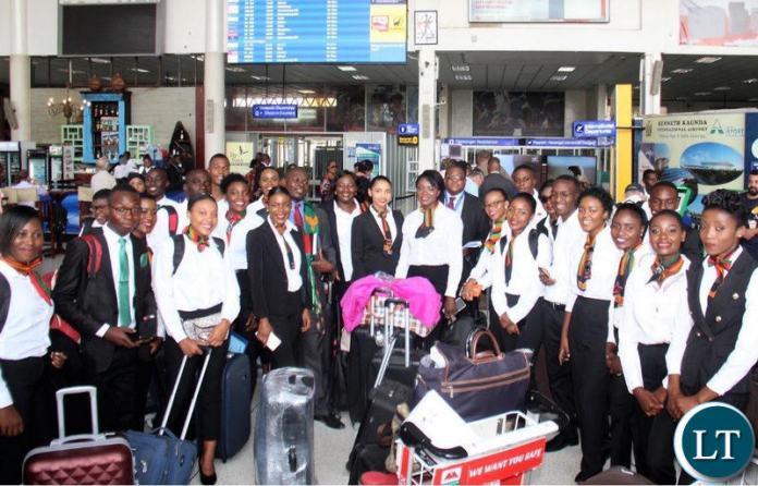 A Zambia Airways 25-member cabin crew