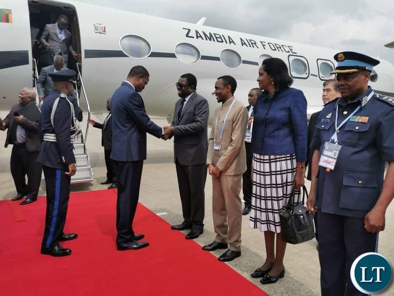 President Lungu being Welcomed in Jappan