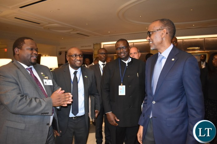 Minister Chiteme, PS Chabala, Director Mulele and President Kagame 25-09-2019