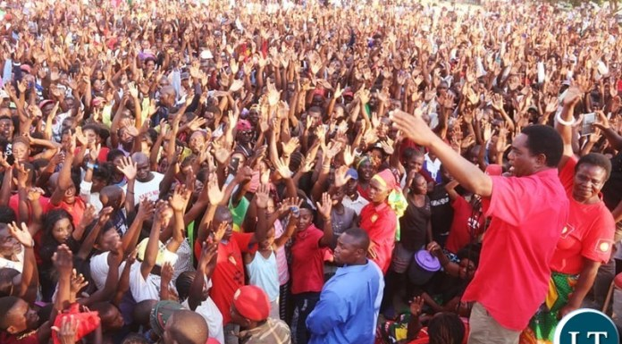Hakainde Hichilema siad that the people are not intimidated by the PF gun culture anymore because their most dangerous weapon is a vote and this will be exercised this Thursday by Kaoma residents just like the people of Sesheke, Katuba, and Roan did.
