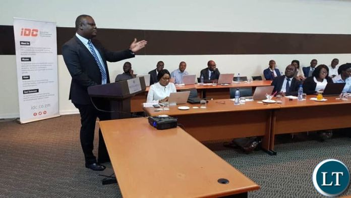 Industrial Development Corporation (IDC) Group Chief Executive Officer Mr Mateyo Kaluba addressing the third Chief Finance Officers' (CFO) Forum in State Owned Enterprises (SOEs)