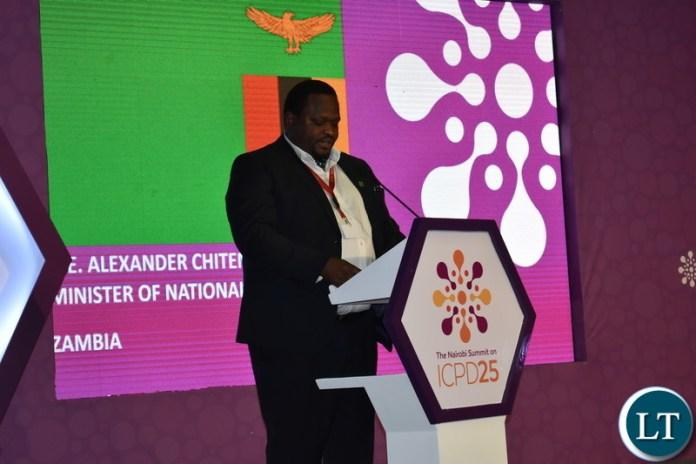 Minister of National Development Planning, Honourable Alexander Chiteme