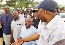 Mr Lusambo, Mr Kungo, Mr Ngulube at the Kabushi rally on Saturday