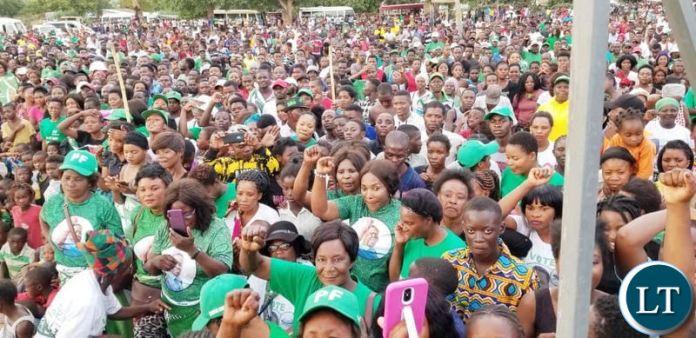 PF members at the Kabushi rally on Saturday