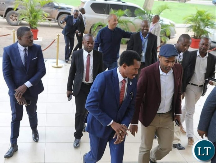 Housing and Infrastructure Development Minister Vincent Mwale has arrived in Lubumbashi ahead of the signing of a bilateral agreement between Zambia and the Democratic Republic of Congo on the implementation of the Kasomeno - Mwenda toll road project.