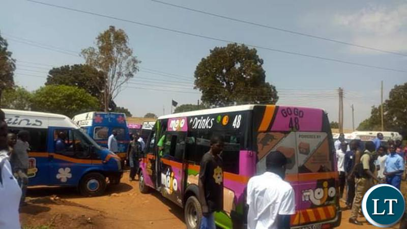 zambia   flash bus drivers protest extortion from pf cadres