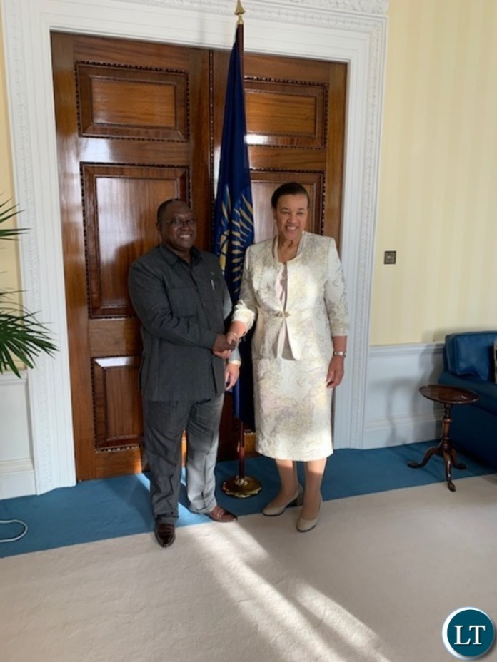 High Commissioner Mihova pays a courtesy call on Commonwealth Secretary-General Baroness. Patricia Scotland QC