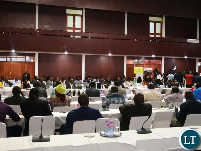 MPs at the  ZAMPHIA Seminar taking place at the Mulungushi International Conference Centre in Lusak