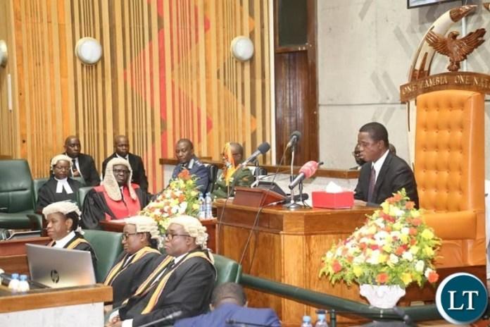 President Lungu Addressing Parliament