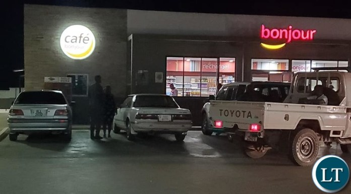 Police whip and picked up patrons found consuming alcohol at total filling station in Salama Park