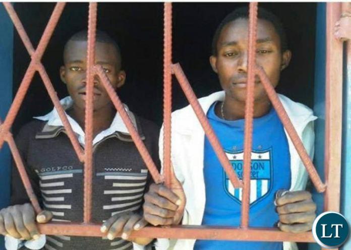Kapiri gay couple behind Bars