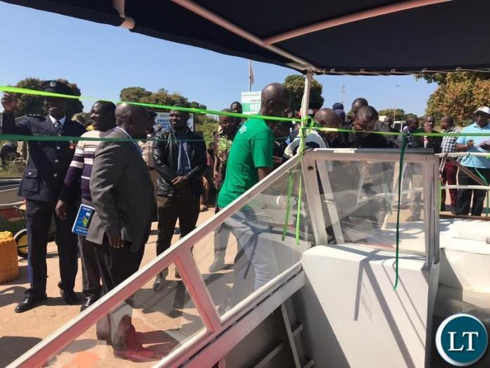 Chilubi Town Council commissioning a 16 sitter boat worth K1.2 Million to lessen challenges of water transport on the island.