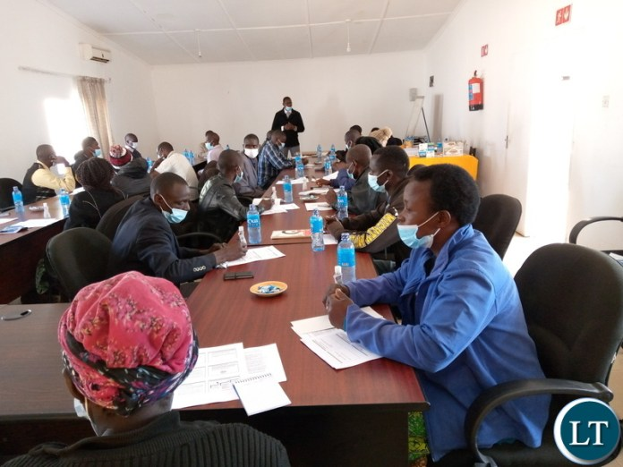 A capacity building workshop for Ward Development Committee members for Keemba, Choongo East and Choongo West wards at Village Blu Lodge in Monze,