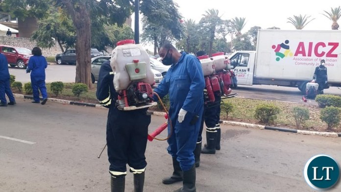 Disinfecting of Parliament Building following the increase in COVID-19 cases