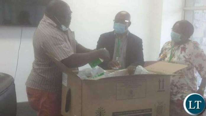 Kambwili inspecting Drugs at Medical Stores