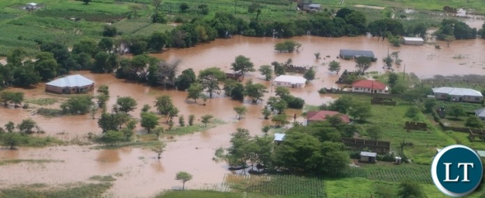 flooded houses in Mumbwa District after the Kandesha dam burst it banks causing the flash floods yesterday. Sunday, December 27, 2020. Picture by ROYD SIBAJENE/ZANIS