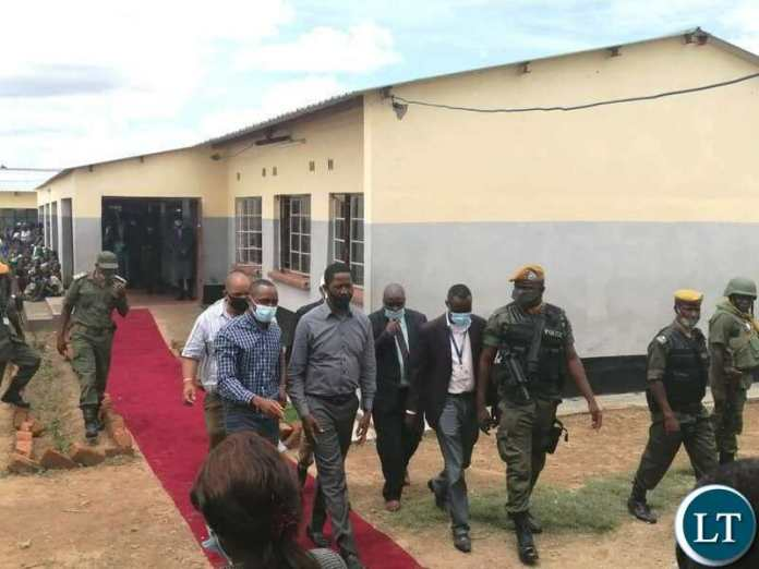 President Edgar Lungu during the tour of Bweengwa High School in Monze, Southern Province before officially launching the school on Wednesday, 9th December, 2020. Picture by Eddie Mwanaleza/State House.
