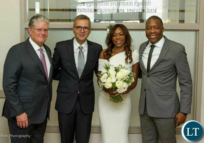Dambisa's brother Mdolole Steven Moyo, Duff Thompson, the couple's long standing friend  with a new Couple