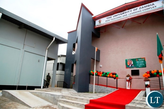 NEW TEACHING LEARNING COMPLEX  - The new state of the art teaching and learning complex which President Edgar Lungu has commissioned at the University of Zambia (UNZA).Picture by SUNDAY BWALYA/ZANIS