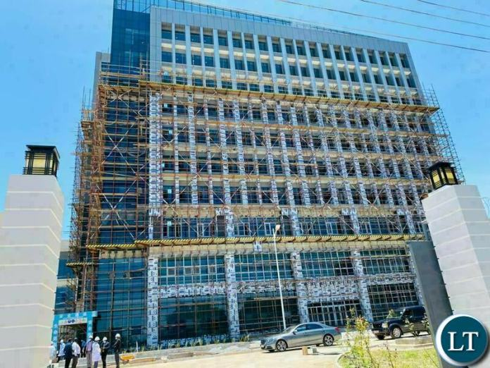 The Outside view under construction of The Safe City National command centre in Lusaka,