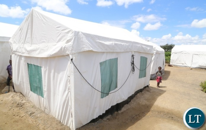 Tents provided by DMMU to Kuku compound flood