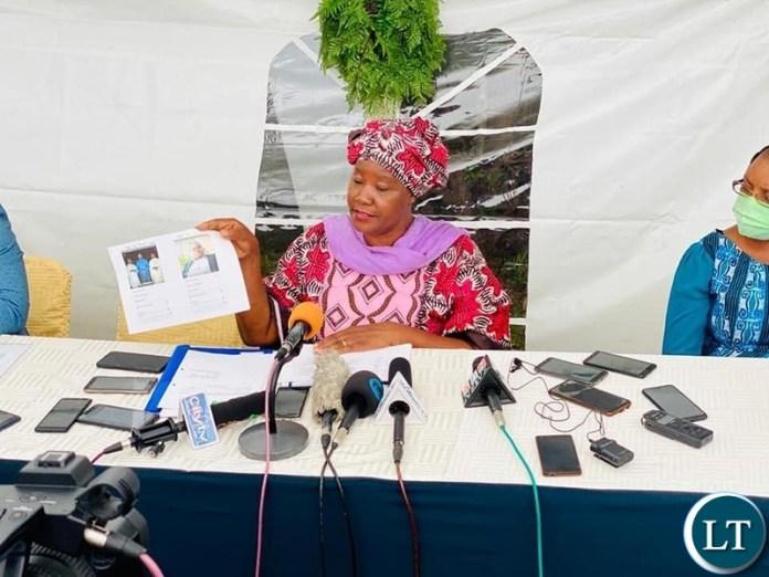Forum for Democracy and Development (FDD) president Edith Nawakwi