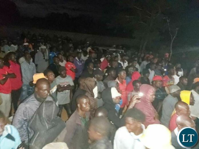UPND youths at HH's residence last night