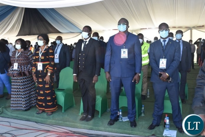 Government officials at the official opening of the Kazungula bridge
